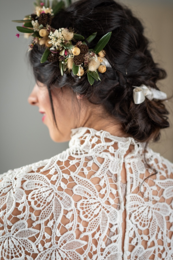 lace detail bridal dress