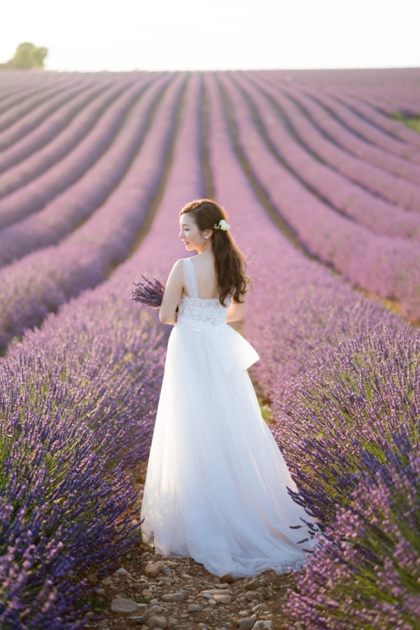 lavender fields bridal gown