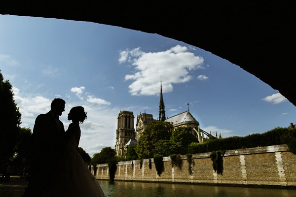 notre dame wedding photo