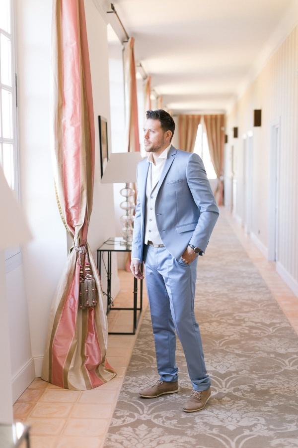 pale blue groom suit
