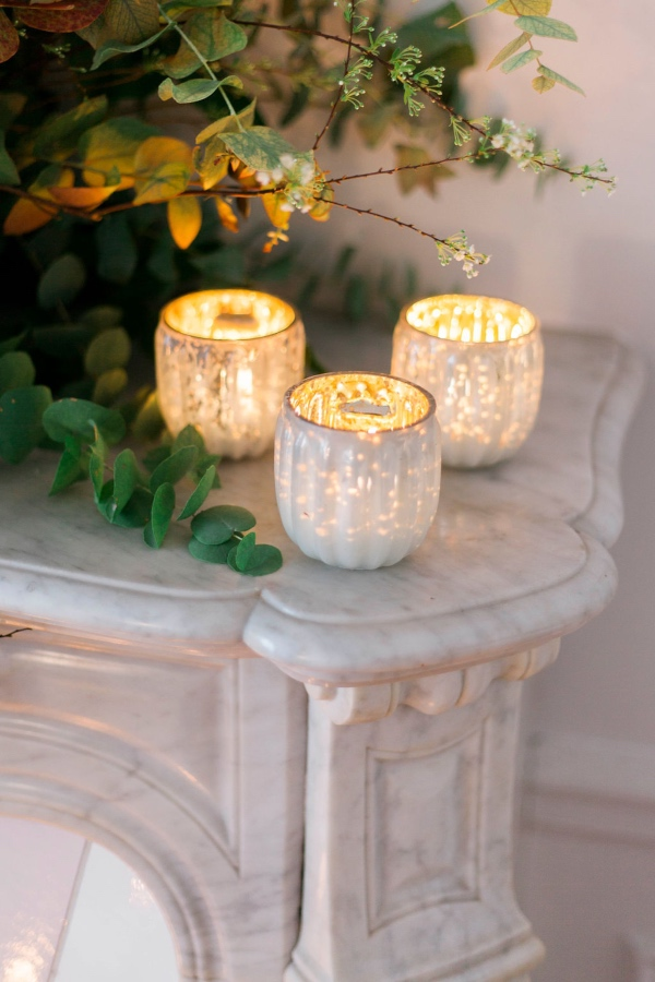 paris wedding candles