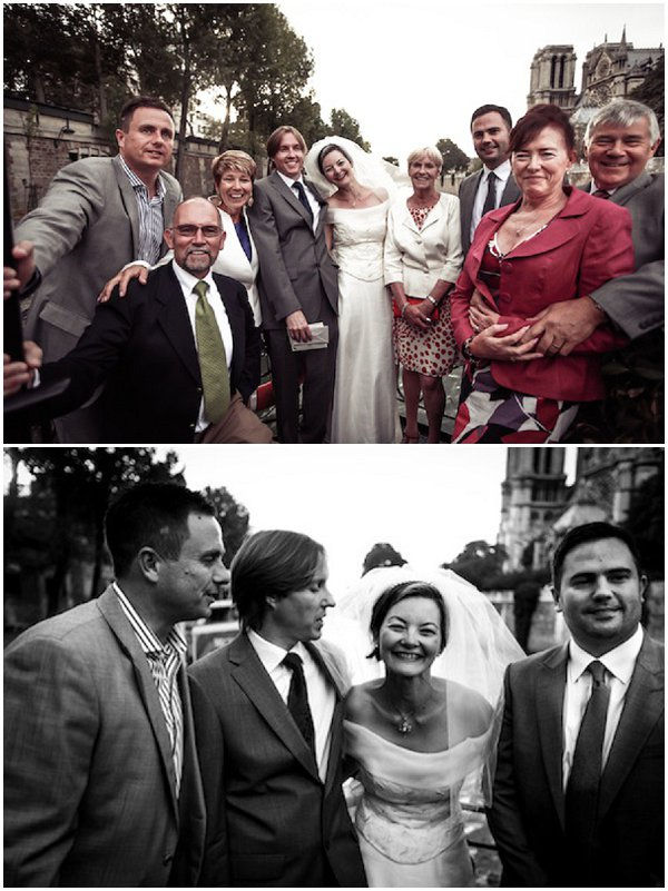 Paris wedding family