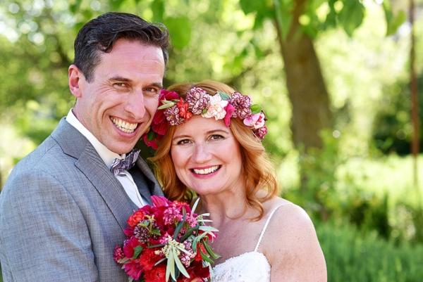 pink floral wedding details