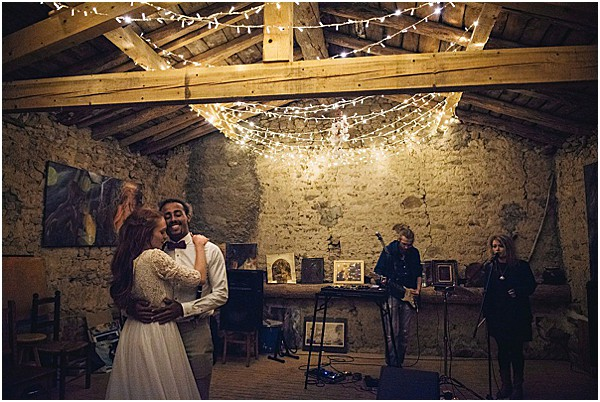 reception and first dance to a private concert