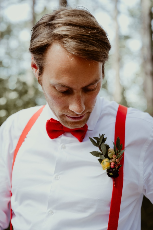 red bow tie french groom