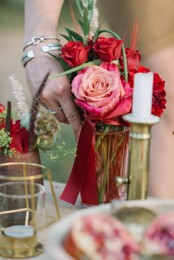 red romantic wedding