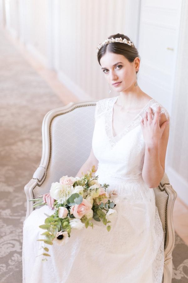 romantic chateau bride