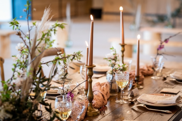 rustic eco-friendly wedding table