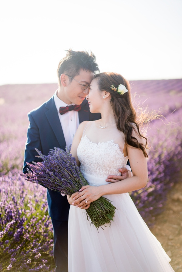 rustic lavender couple