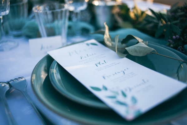 sea inspired place setting