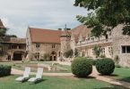 view of french chateau wedding