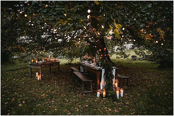 wedding decor for a fall elopement in france