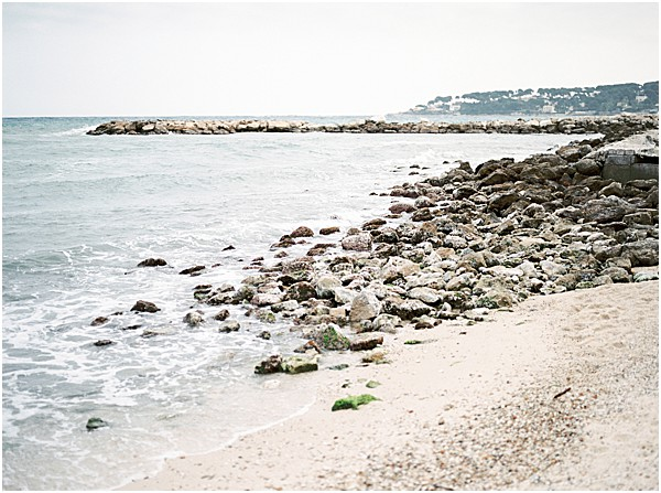 Beach wedding on the French Riviera