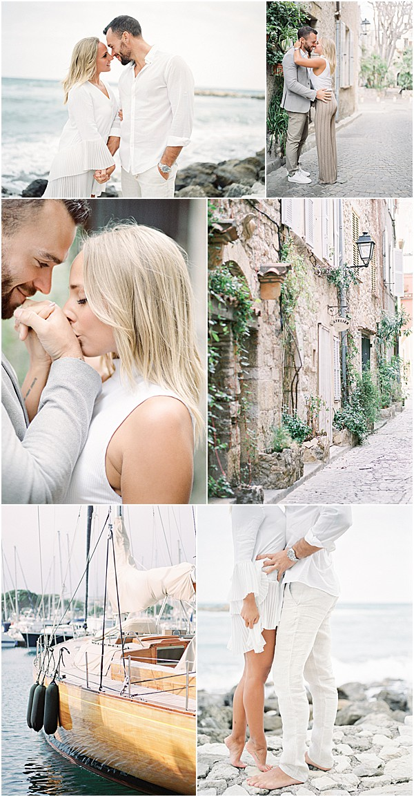 Engagement session from French Riviera snapshot