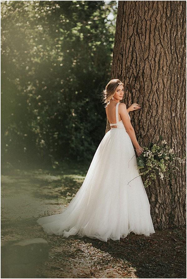 a delicately sensual Rosa Clara dress