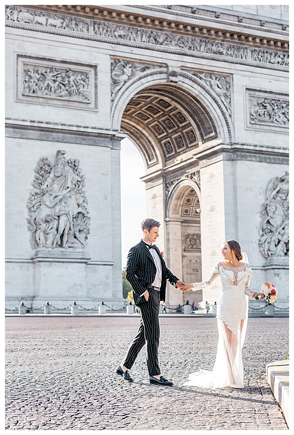 arc de triomphe wedding photographer