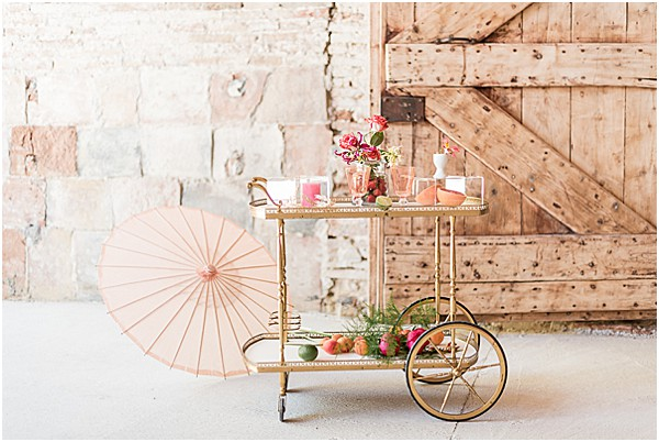 bar cart in SW France venue