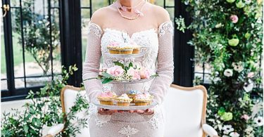 bride at the tea party in France