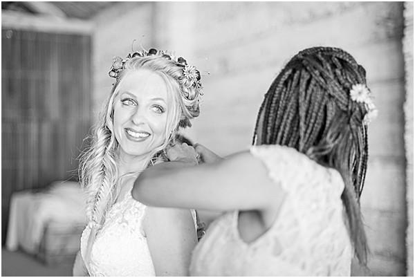 bride gettin ready in France