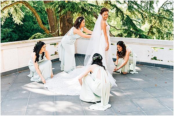 brides helping bride
