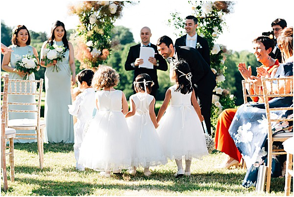 bridesmaids and flower girls france