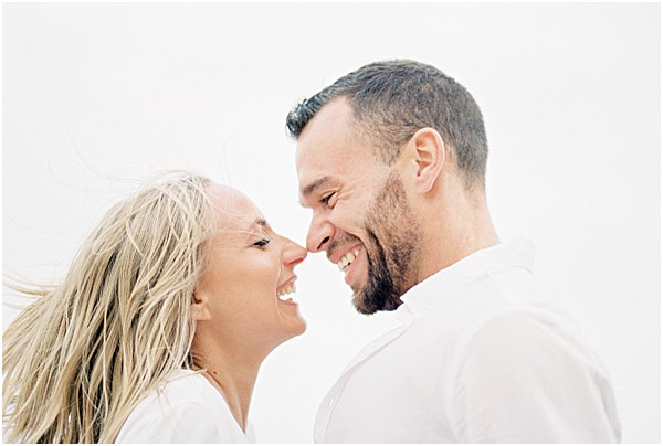 couple smiling and laughing