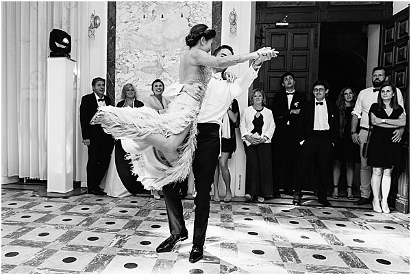 dancing and twirling in this chateau wedding venue