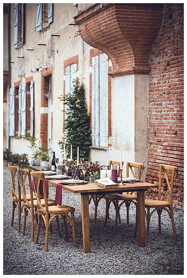 dining table wedding venue sw france