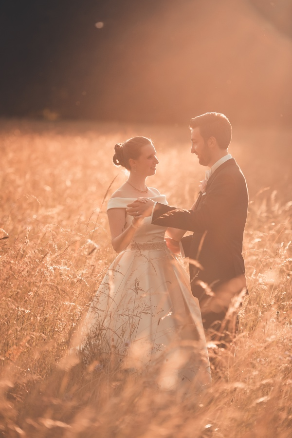 france outdoor wedding couple