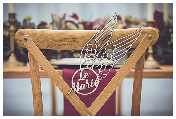 marie bride cut out seat holder