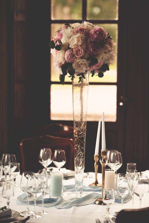 pink tall vases
