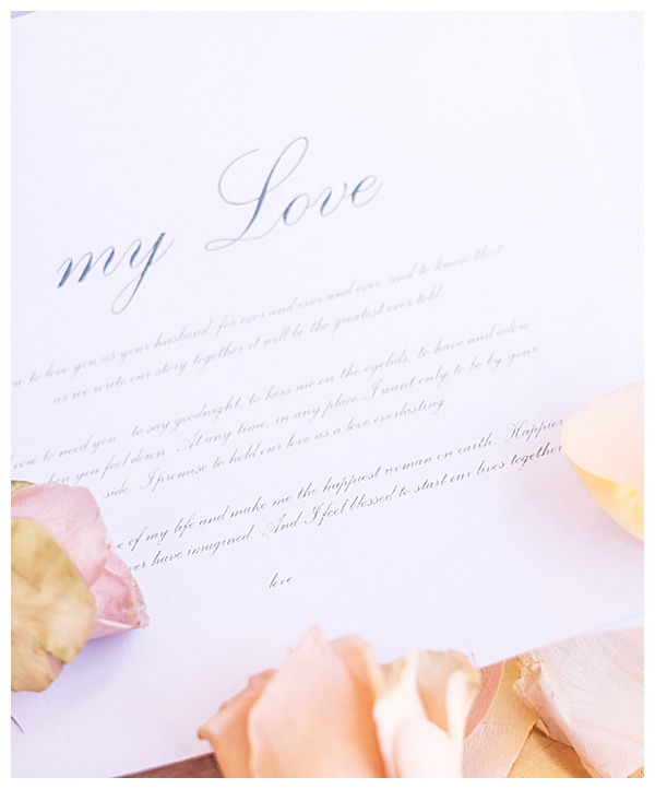stationary with rose petals photography