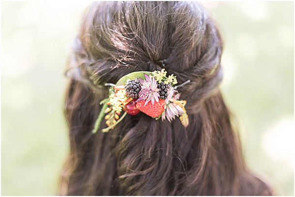 strawberry hair piece
