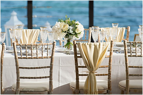 wedding table top decor on the French Riviera