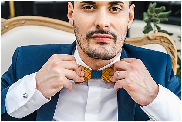 wooden bow tie for grooms attire