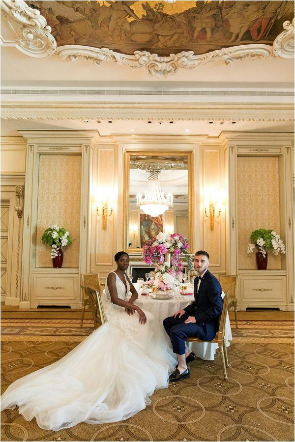 Chic and elegant Shangri la wedding table