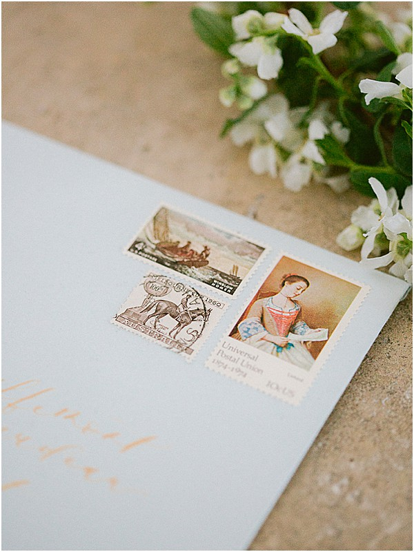 French Stamps on letters