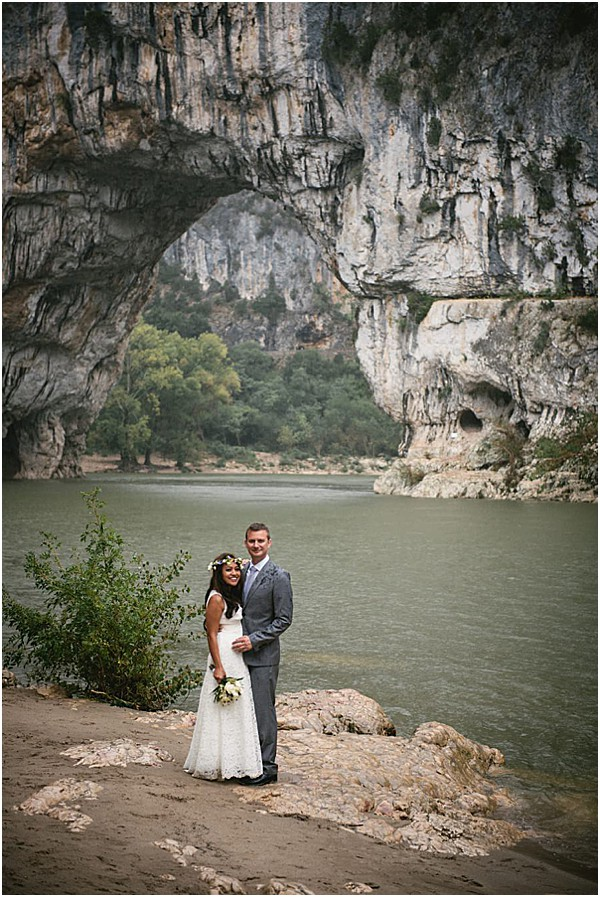 Intimate Ardeche wedding in Provence views
