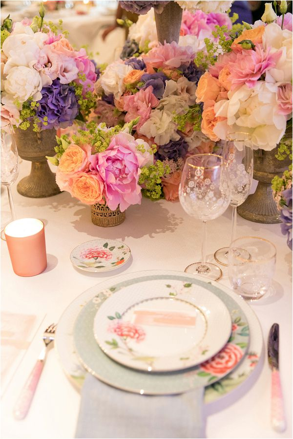 Laura Ashley inspired wedding table design