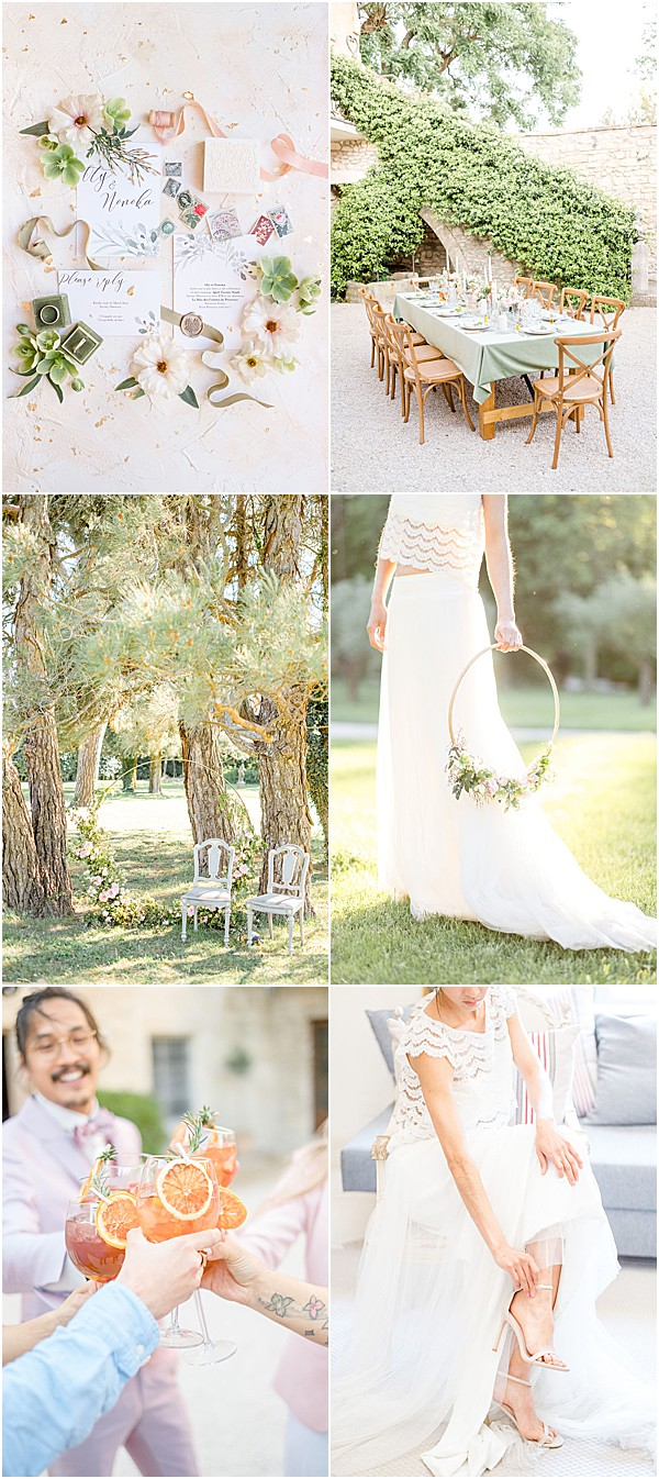Pastel wedding at Mas des Comtes de Provence Snapshot