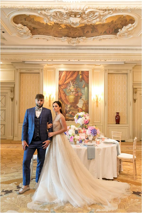 Pastel wedding table design