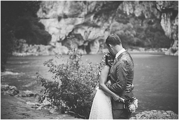 bride and groom Intimate Ardeche wedding in Provence