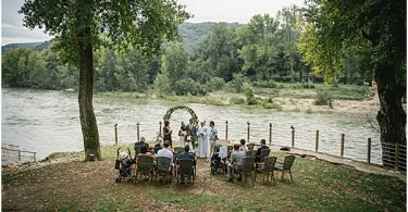 ceremony overlooking the water