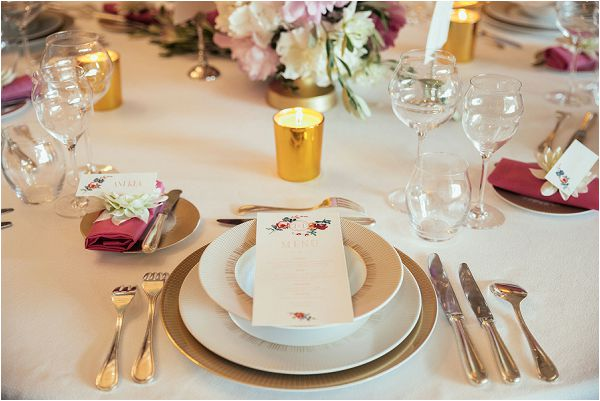 clean and crisp wedding table
