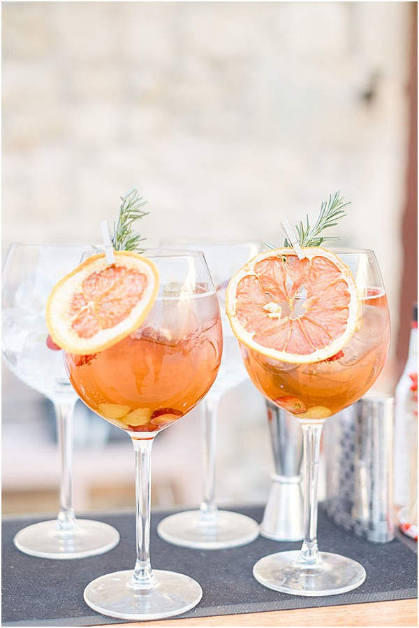 cocktails in France with rose