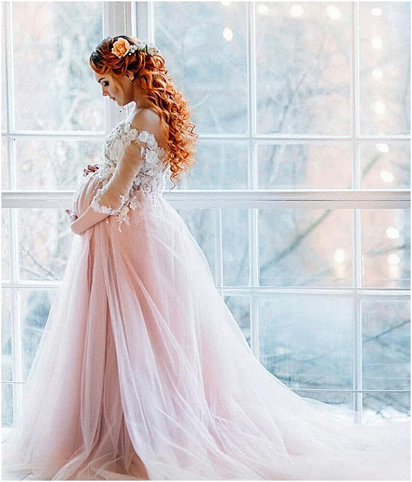 fairytale maternity wedding dresses