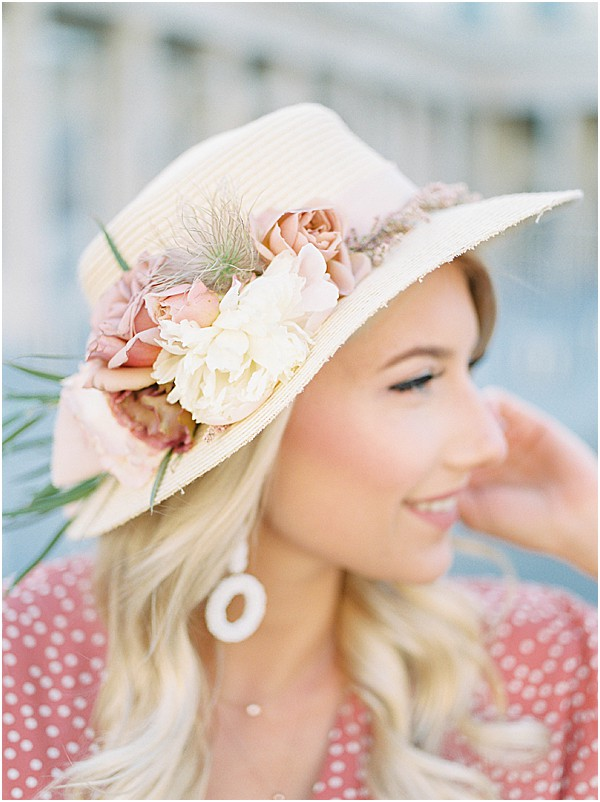 florals on sun hat • Images by Jennifer Hodder Photography