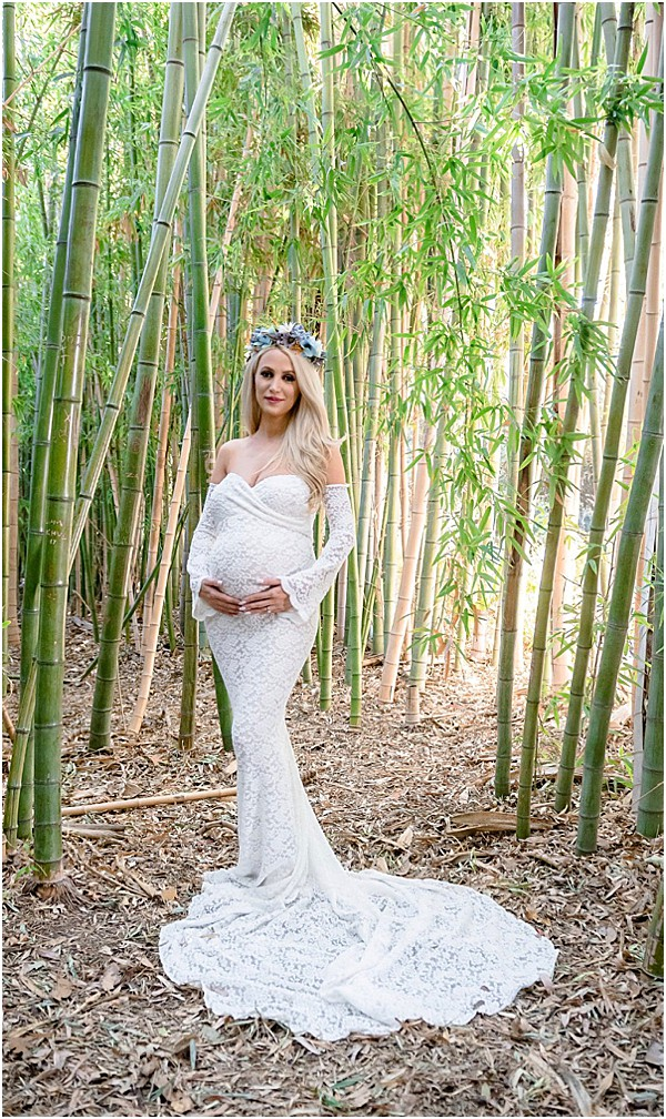 off the shoulder maternity wedding dresses