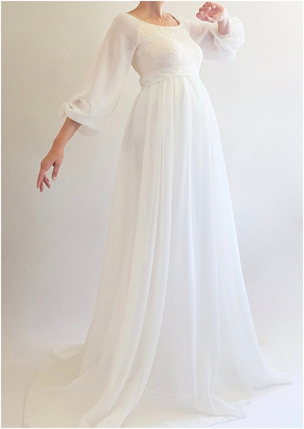 sleeves maternity wedding dresses