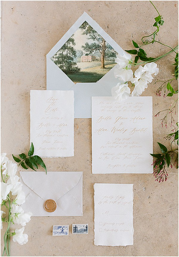stationary in a provence Wedding